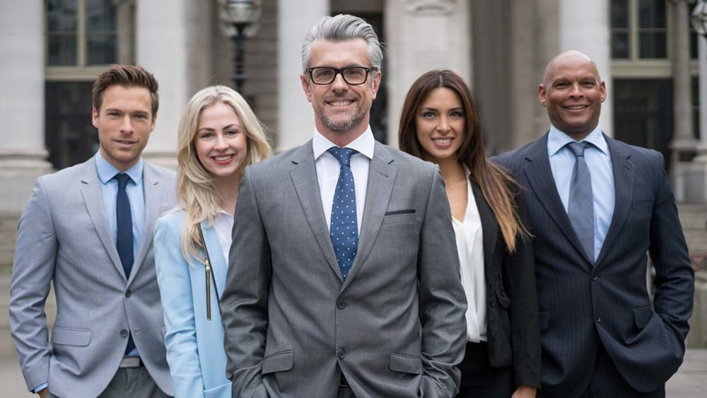 Group of business people outdoors